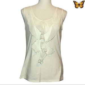 Coldwater Creek Ruffle Front Tank Size Extra Small